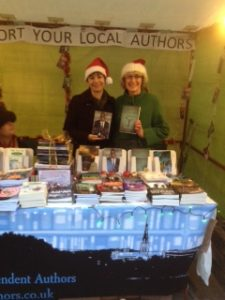 Jane Cable and Jill King at Chichester Christmas market