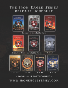 Visual Image Of The Series Release Schedule For 'Rise Of The Iron Eagle'