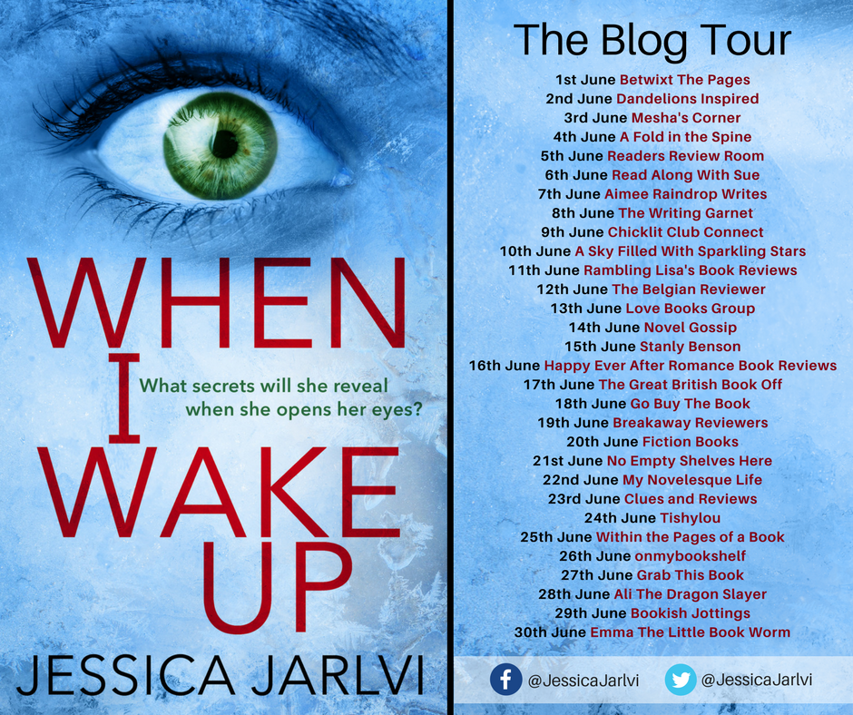 Image Of Blog Tour Banner For 'When I Wake Up'