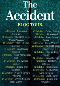 Blog Tour Graphic For 'The Accident' By Dawn Goodwin