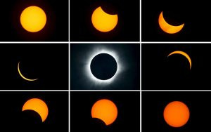 Image Of The Progression Of A Total Solar Eclipse Over Indonesia In 2016