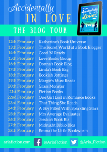 Image Of The Blog Tour Banner For 'Accidentally In Love' By Anna Premoli