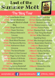 Image Of The Blog Tour Banner For 'Last Of The Summer Moet' By Wendy Holden