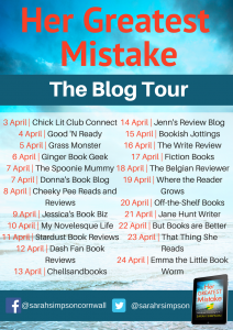 Blog Tour Banner For The Book 'Her Greatest Mistake' By Sarah Simpson