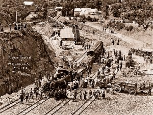 Walhalla Australia Walhalla's First Train 1910