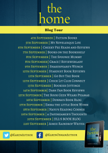 Image Of The Blof Tour Banner For The Book 'The Home' By Author Karen Osman