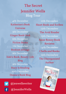 Image Of The Blog Tour Banner For The Book 'The Secret' BY Author Jennifer Wells