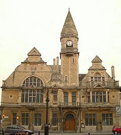 A photograph of Trowbridge Town Hall by Dave Evans