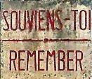 Image of a sign at the entrance to Oradour-sur-Glane