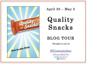 Blog Tour Promotion Image 'Quality Snacks' by Andrew Mozina