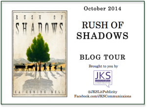 Image Of Blog Tour Promotional Logo For Rush Of Shadows By Catherine Bell