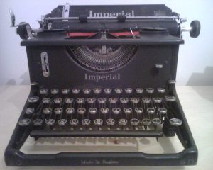 Image Of An Imperial 50 Typewriter