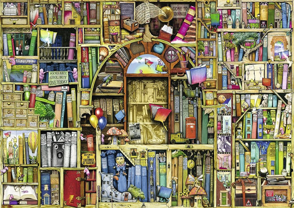 Image Of Jigsaw Puzzle 'The Bizarre Bookshop No. 2' By Ravensburger