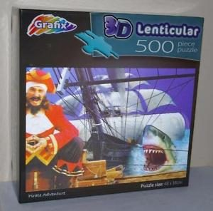 Outside Box Image Of A 3D Lenticular Jigsaw Puzzle