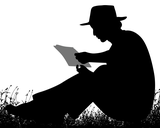Generic Silhouette Image Of A Person Reading