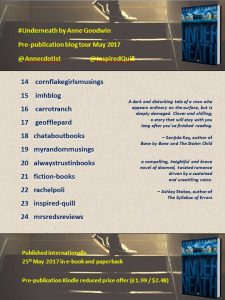 Underneath By Anne Goodwin - Blog Tour Banner