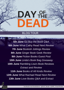 Image Of The Blog Tour Banner 'Day Of The Dead' By Mark Roberts