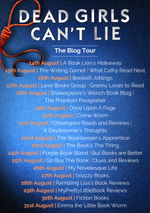 Image Of The Blog Tour Banner For 'Dead Girls Can't Lie' By Carys Jones