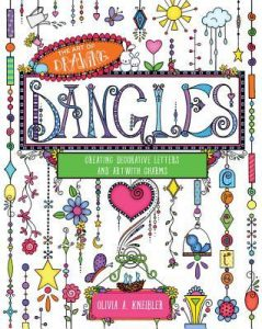 Cover Image Of 'Drawing Dangles: Lettering And Art With Charms' By Olivia Kneibler