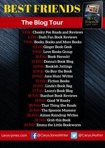 Image Of The Blog Tour Banner For 'Best Friends' By Carys Jones