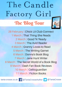 Blog Tour Image For 'The Candle Factory Girl' By Tania Crosse
