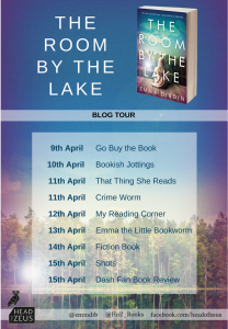Image Of The Blog Tour Banner For The Book 'The Room By The Lake' By Emma Dibdin