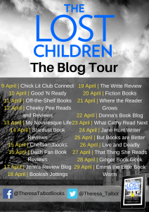 Image Of The Blog Tour Banner For The Book 'The Lost Children' By Author Theresa Talbot