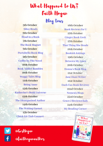 Image Of The Blog Tour Banner Part One For The Book 'What Happened To Us' By Faith Hogan