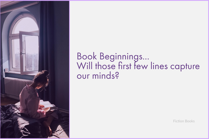 Book beginnings - those first few lines of a book that try to hook us on the story