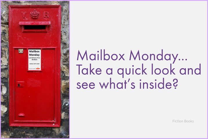 "image of a red post box set in a wall - Caption Reads ""Mailbox Monday Take A Quick Look And See What's Inside"" - Generic Image For Mailbox Monday Posts"