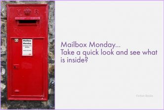 "Mailbox Monday image - Red English post box set in wall, with the caption ""Take a quick look and see what is inside?"""