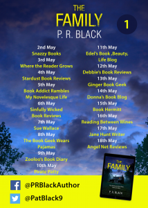 Image of Blog Tour banner #1 - 'The Family' by author P.R. Black