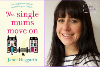 Image featuring the cover reveal of the book 'The Single Mums Move On' by author Janet Hoggarth