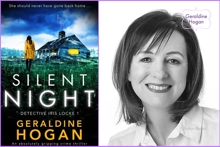 Image feature for the Cover Reveal of the book 'Silent Night' by author Geraldine Hogan