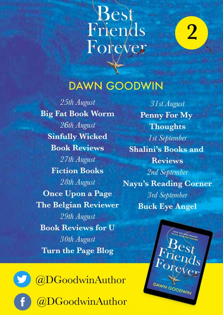 Image of the blog tour banner 2 for the book 'Best Friends Forever' by author Dawn Goodwin