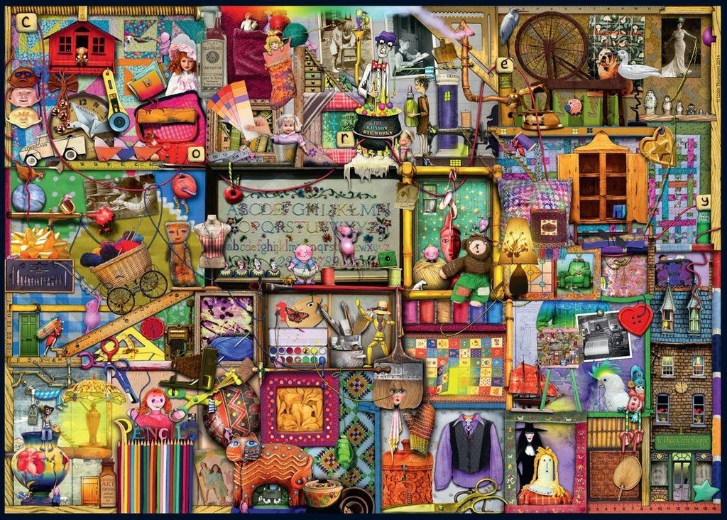 Image of the Ravensburger jigsaw 'The Craft Cupboard'