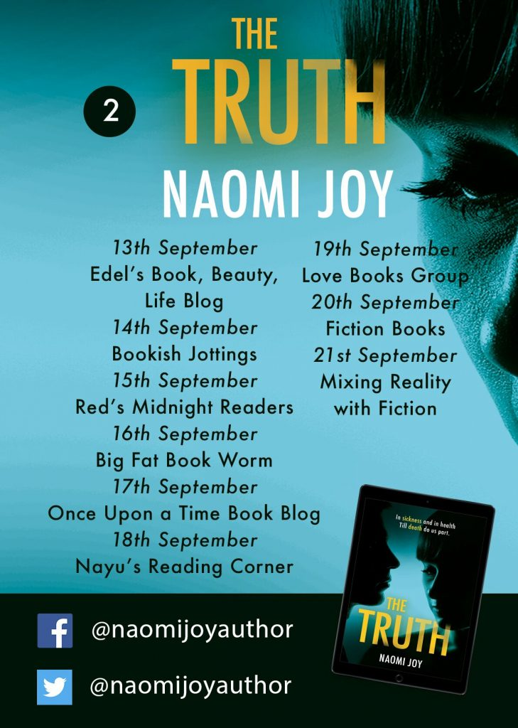 Image of the Blog Tour banner part 2 for the book 'The Truth' by author Naomi Joy