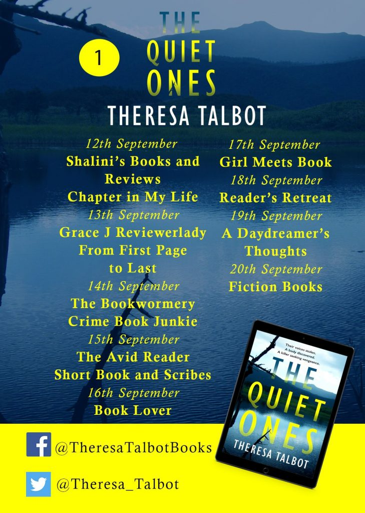 Image Of Blog Tour Banner 1 for the book 'The Quiet Ones' by author Theresa Talbot