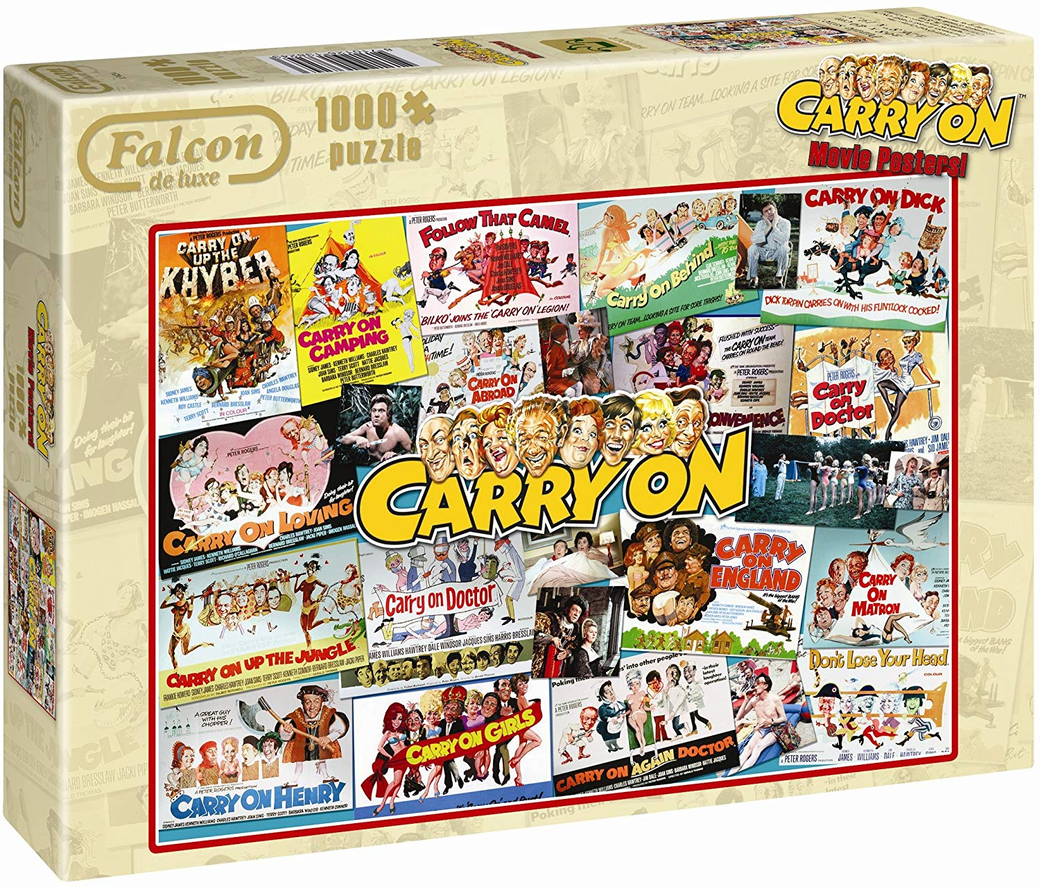 Box image of the jigsaw puzzle 'Carry On Movie Posters'