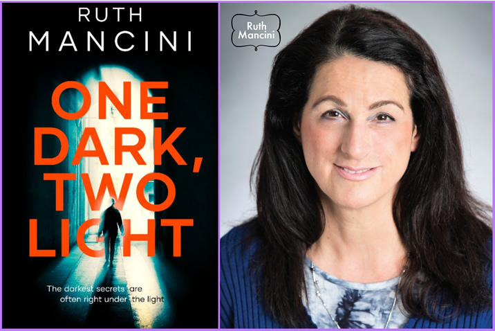 Featured image for the book cover reveal of 'One Dark, Two Light' by Ruth Mancini