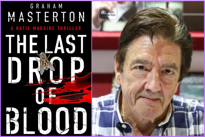 Featured image for the cover reveal of the book 'The Last Drop Of Blod' by the author Graham Masterton