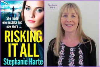 Featured image of cover reveal for the book 'Risking It All' by author Stephanie Harte