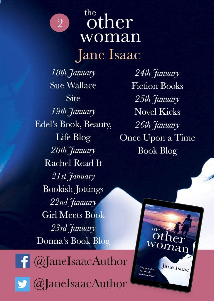 Image of the blog tour banner for the book 'The Other Woman' by author Jane Isaac