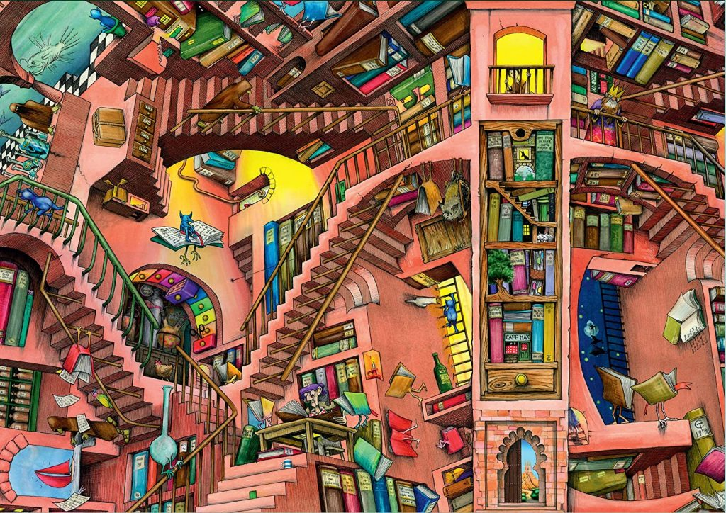 Image of the jigsaw puzzle 'The Ludicrous Library' by Colin Thompson & Ravensburger Puzzles