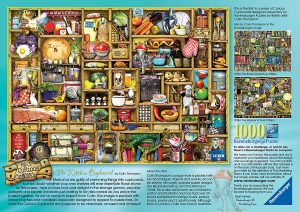 Image of the Ravensburger 1,000 piece jigsaw 'The Kitchen Cupboard' - back of the box