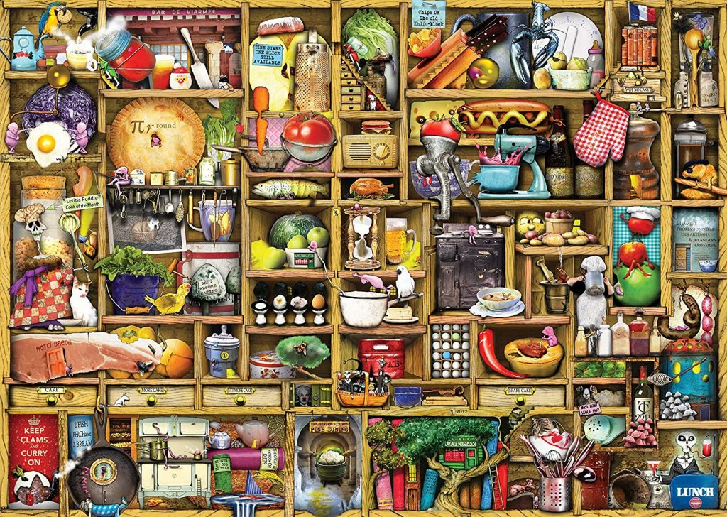Image of the jigsaw puzzle 'The Kitchen Cupboard' by Ravensburger - Overview no box visible