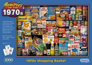 Image of Gibsons Jigsaw Puzzle - Memories Of The 1970s - 1970s Shopping Basket