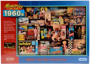 Box Front Image Of The Gibsons 1,000 Piece Jigsaw Puzzle 1960s Toy Box memories