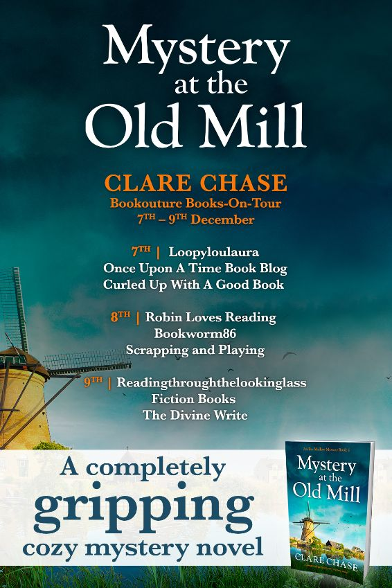 Image of the Blog Tour Banner for the book 'Mystery At The Old Mill' by author Clare Chase