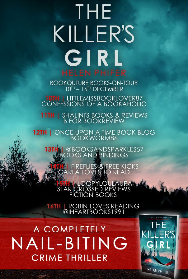 Image of the Blog Tour Banner for the book 'The Killer's Girls' by author Helen Phifer